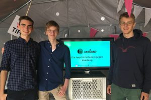 Kai Lanz, Jan Wilhelm und Julius de Gruyter von exclamo.org